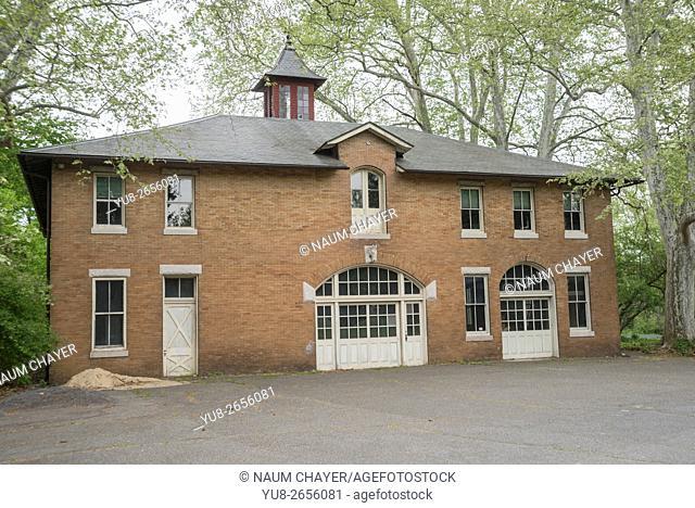 Old stabling, building near Glen Foerd on the Delaware, historic mansion and estate, Philadelphia, Pennsylvania, USA
