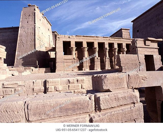 Philae viewed from the Nile