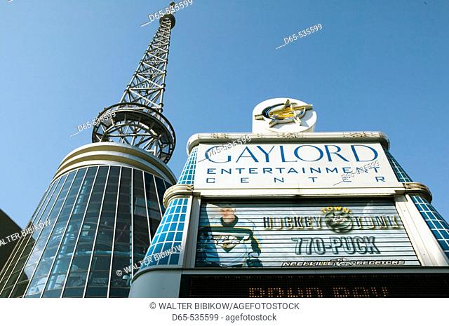Gaylord Entertainment Center. Lower Broadway. Nashville. Tennessee. USA