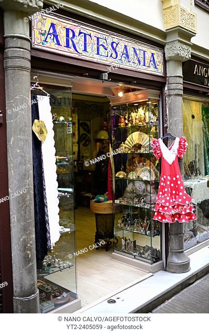 Craft shop in Granada, Spain