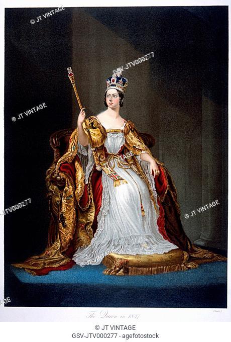 Victoria 1819-1901, Queen of Great Britain, 1837-1901, 1837 Portrait Painting