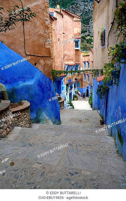 The Kasbah, Chefchaouen, the blue pearl, village northeast of Morocco, North Africa, Africa