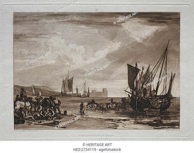 Liber Studiorum: Vessels Unloading. Creator: Joseph Mallord William Turner (British, 1775-1851)