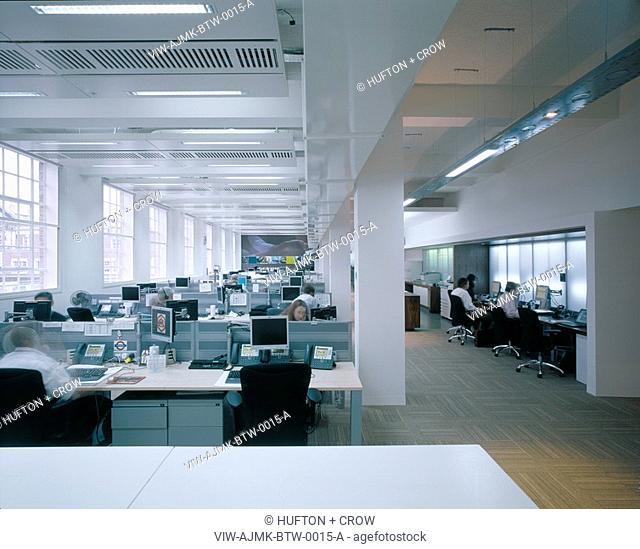BT-WHOLESALE, KNIGHTRIDER STREET, LONDON, EC4 QUEEN VICTORIA STREET, UK, AJMK ARCHITECTS, INTERIOR, 5TH FLOOR OPEN OFFICE AREA