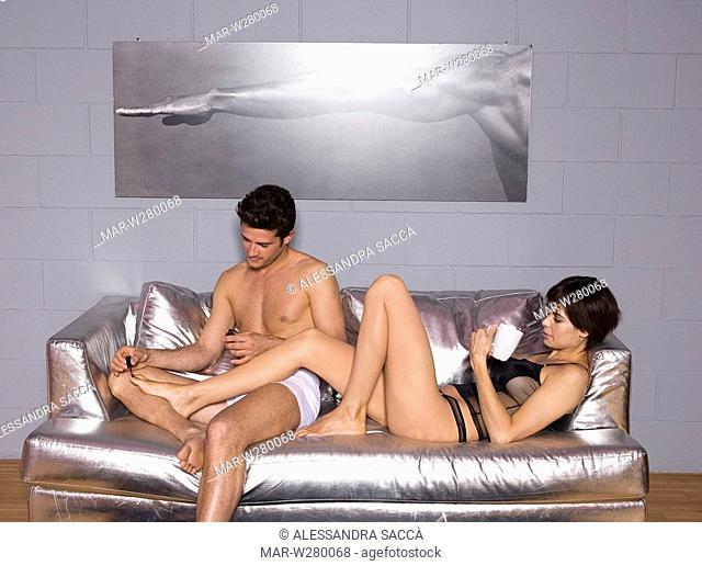 couple, divan