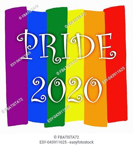Rainbow gay pride flag, Symbol of sexual minorities, gays and lesbians, PRIDE 2020