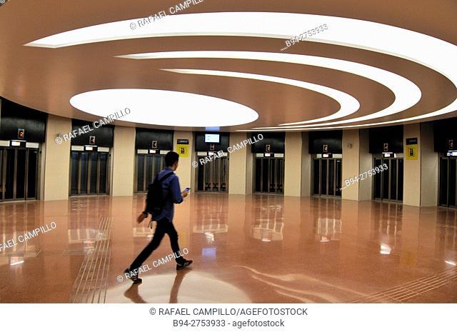 Subway station. Ciutat Universitaria. Barcelona, Catalonia, Spain
