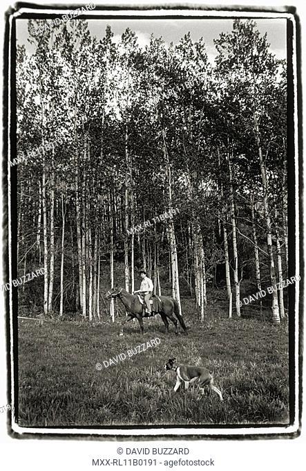 Horseback riding, Ruddock Ranch, B.C