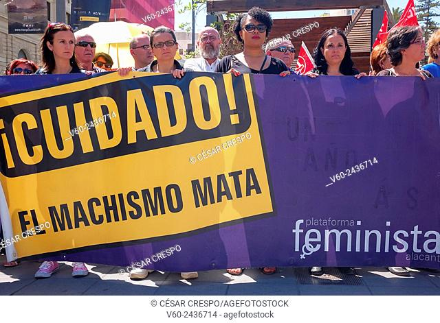 -Demonstrations against Male Chauvinism- Alicante (Spain)