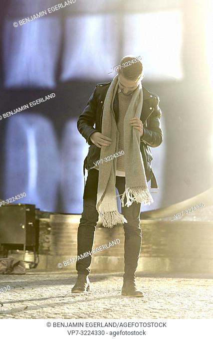 man, style, scarf, outdoors, in Munich, Germany