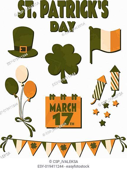 St. Patrick's Day Design Elements S