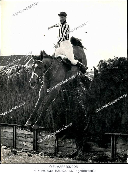 Mar. 03, 1968 - Ken Durant the 69 year-old Grandfather Finishes the National on his mount highlandie: Ken Durant, the 69 year old American finished the National...