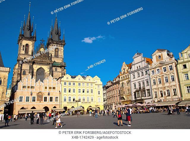 Staromestske namesti the old town square Prague Czech Republic Europe