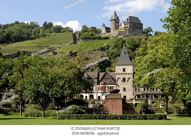 Old town of Bacharach with Burg Stahleck