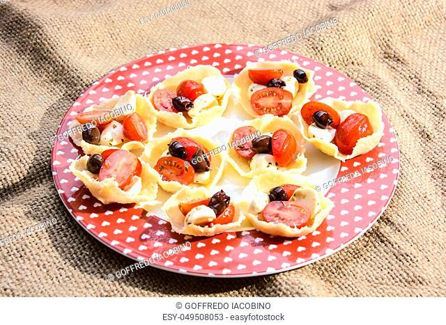 finger food and original appetizer of Italian fine cuisine
