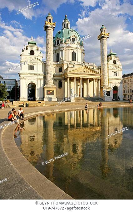 Karlskirche, Karlsplatz, Vienna, Austria