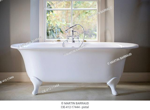 Claw foot tub in luxury bathroom