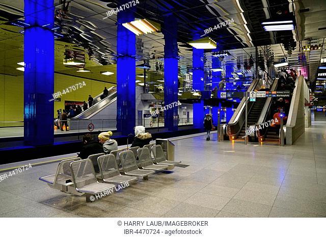 Metro station Münchner Freiheit, Munich, Upper Bavaria, Bavaria, Germany