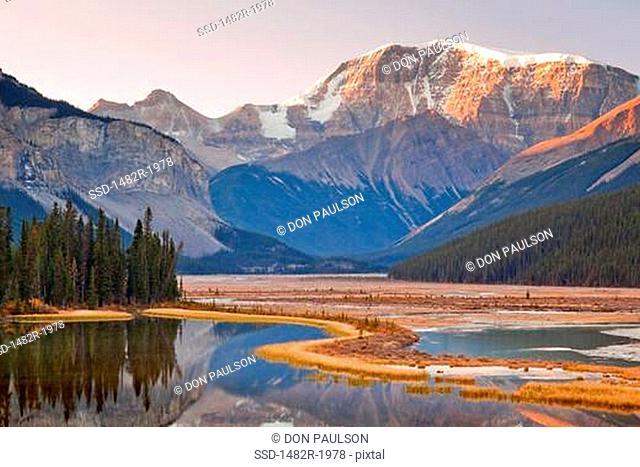 Sunwapta River, Mount Kitchener, Jasper National Park, Alberta, Canada