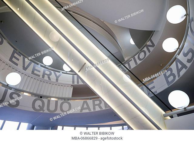Germany, Bavaria, Munich, BMW Museum, atrium