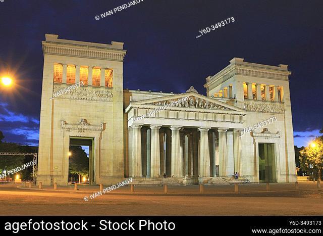 Koningsplatz at Dusk, Munich, Germany