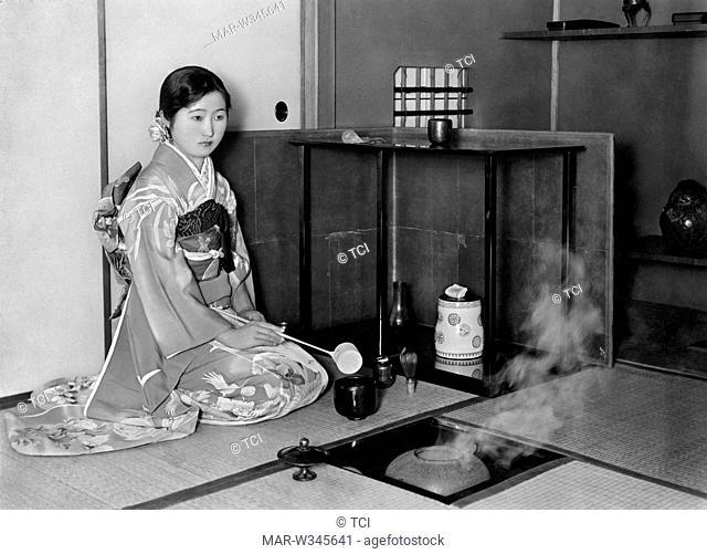 japan, kyoto, the tea ceremony, 1930-40