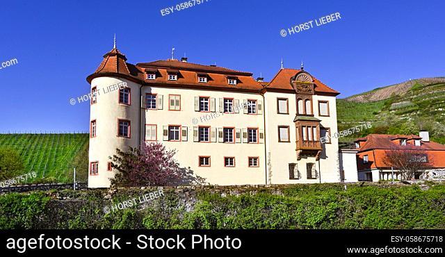 The beautiful Schloss Neuweier winery between Sinzheim and Buehl. Baden Wuerttemberg, Germany, Europe