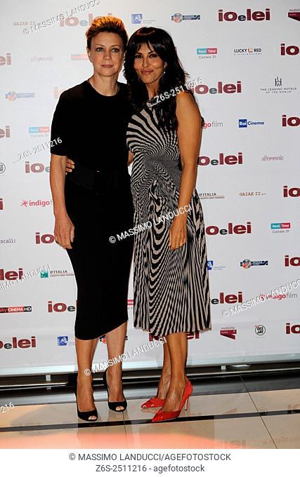 Sabrina Ferilli e Margherita Buy; ferilli e buy; actress; celebrities; 2015; rome; italy; event; photocall ; io e lei