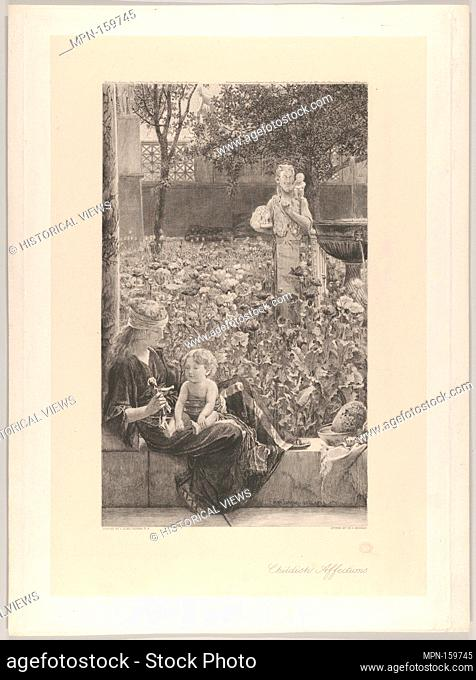 Childish Affections. Artist: After Sir Lawrence Alma-Tadema (British (born The Netherlands), Dronrijp 1836-1912 Wiesbaden); Engraver: Charles Oliver Murray...