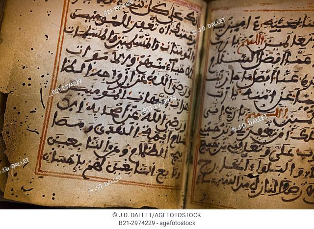 Islam, Religion, Hadith (Traditions of the prophet) book (19th C.). Hadith are sayings, act or tacit approval, validly or invalidly