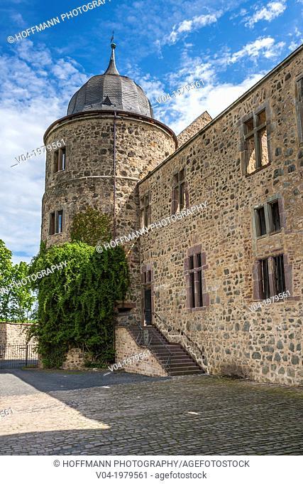 Historic Sababurg (Sleeping Beauty's Castle) on the German Fairy Tale Route, Hesse, Germany, Europe
