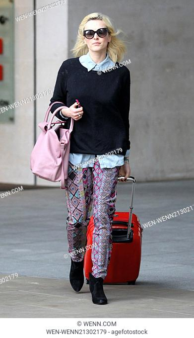 Fearne Cotton seen leaving Radio 1 Featuring: Fearne Cotton Where: London, United Kingdom When: 28 Apr 2014 Credit: WENN.com