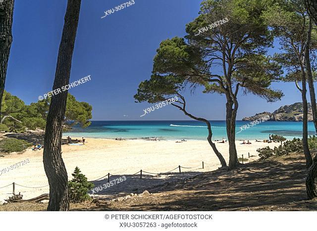 Cala Agulla beach and bay, Cala Rajada, Majorca, Balearic Islands, Spain,