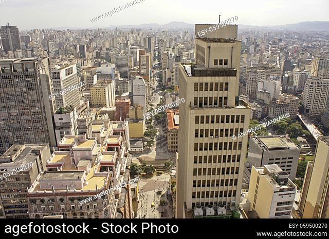 Sao Paulo, Modern city panoramic view with skycrapers, Brazil, South America