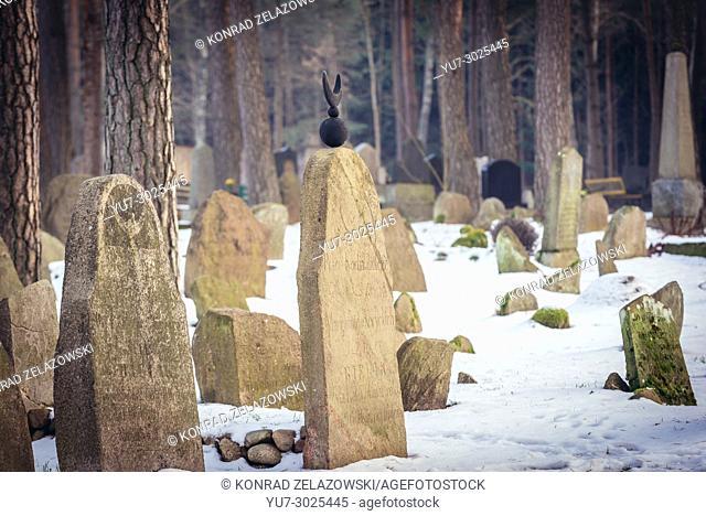 Muslim cemetery in Kruszyniany village, former Polish Tatars settlement within Sokolka County, Podlaskie Voivodeship of Poland
