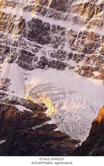 Angel Glacier at sunrise on Mt. Edith Cavell, Jasper National Park,Alberta
