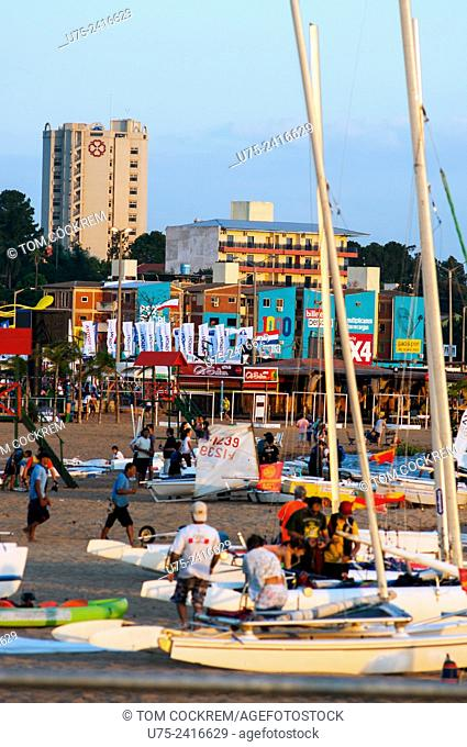 Playa San Jose scene in late afternoon, Encarnacion, Paraguay