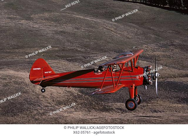 Stearman 1940's biplane. Restored