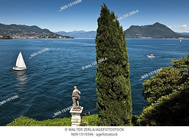 Garden of isola bella, Lake Maggiore, Italy