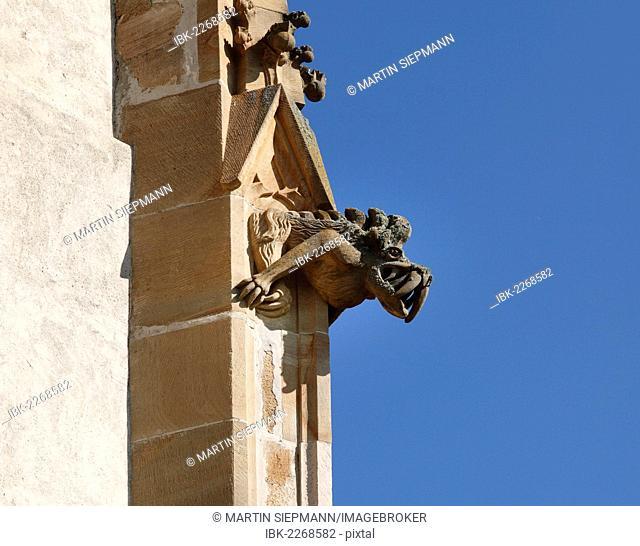 Gargoyles on the Gothic parish church of Mary in Paradise, St. Marein near Knittelfeld, Upper Styria, Styria, Austria, Europe, PublicGround