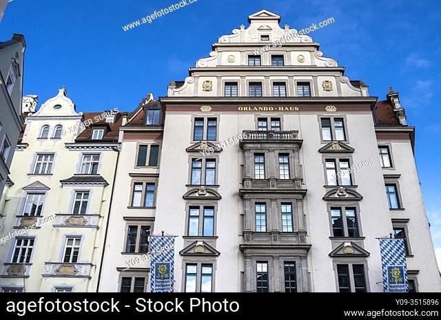 Orlando Haus, Historic city center, Munich, Bavaria, Germany