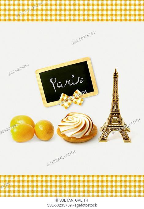 Tasting a lemon meringue pie in Paris