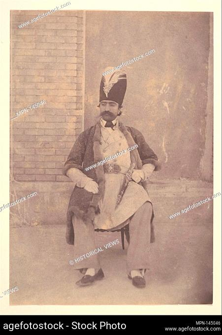 Naser al-Din Shah. Artist: Possibly by Luigi Pesce (Italian, 1818-1891); Person in Photograph: Person in photograph Naser od-Din Shah (Iranian