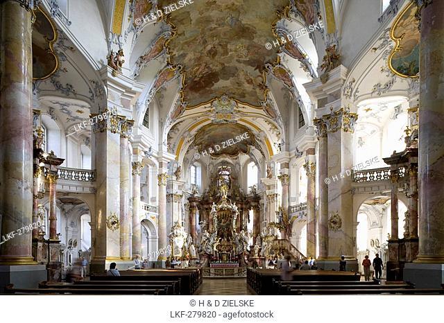 Altar in the pilgrimage church of the Fourteen Holy Saints, Wallfahrtskirche Vierzehnheiligen near Bad Staffelstein, Oberfranken, Bavaria, Germany, Europe