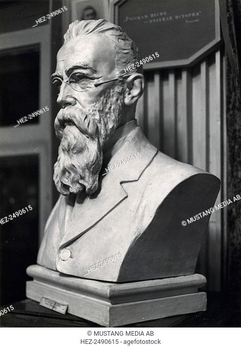 Bust of Nikolai Rimsky-Korsakov, Russian composer, late 19th or early 20th century(?). Rimsky-Korsakov (1844-1908) was a member of the group of Russian...