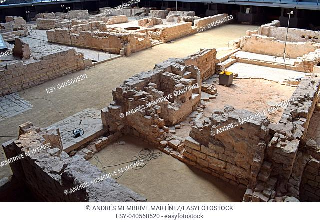 Archaeological remains of the medieval era El Borne in Barcelona