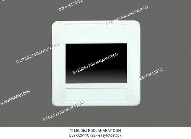 Slide film with white frame