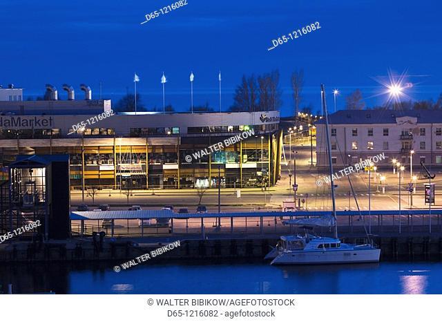 Estonia, Tallinn, Passenger Port area, dawn
