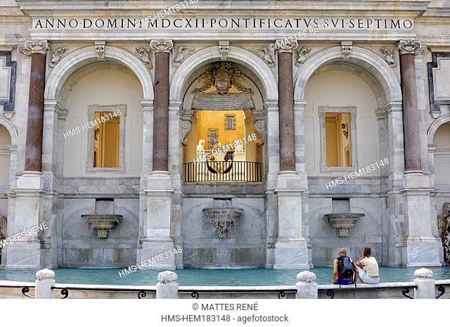 Italy, Lazio, Rome, Dell' Acqua Paola fountain in the Gianicolo Janiculum Hill