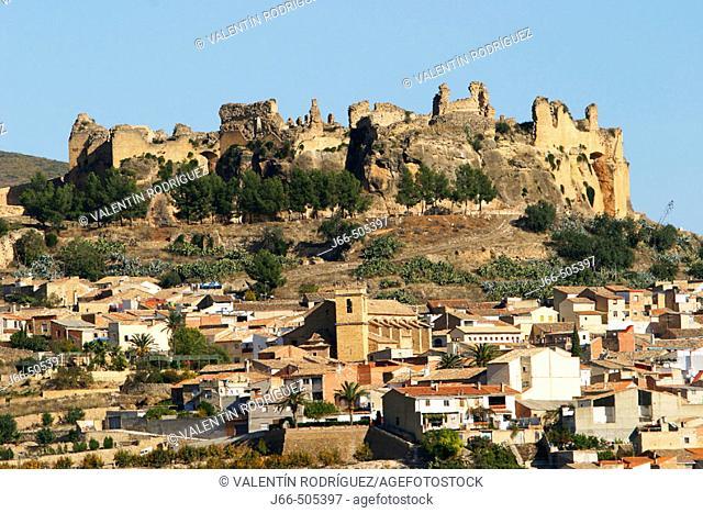 Castle and town, Montesa. Valencia province, Comunidad Valenciana, Spain